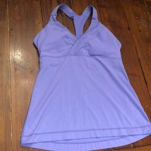 Lululemon purple / lavender t- back tank. EUC!